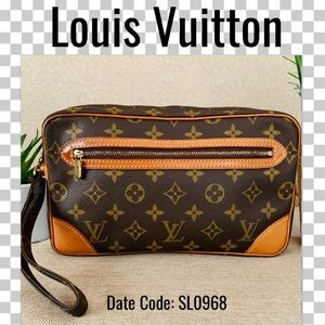 Louis Vuitton clutch bag marly dragonne Monogram
